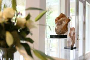 "Sculptures by Dorit Schwartz titled ""Harmony,"" center right, and ""Unison,"" right, are shown in her home, March 10. (Ronda Churchill/View)"