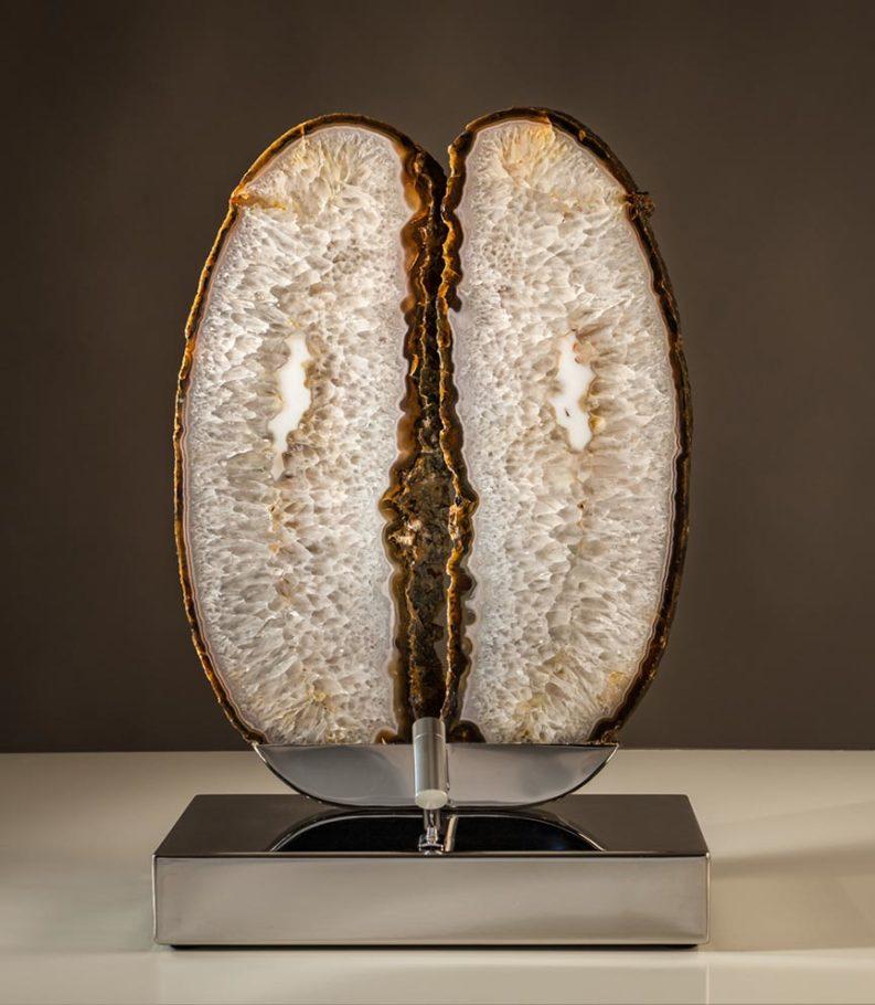 Angel Wings Crystal Wood Sculpture Dorit Schwartz