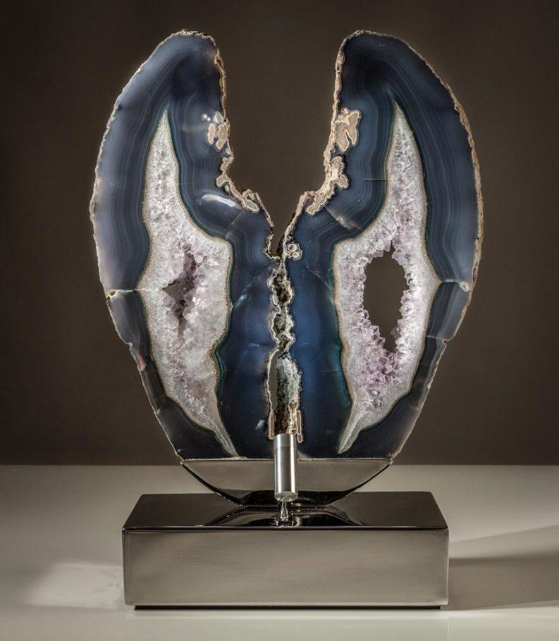 Heavenly Gates Crystal Wood Sculpture Dorit Schwartz