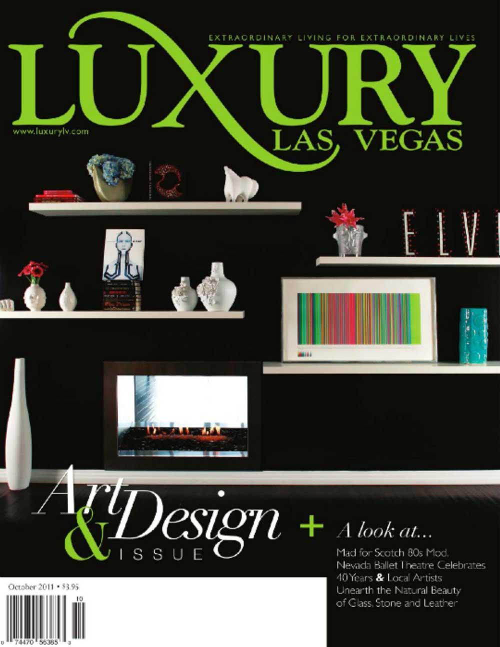 Luxury Magazine October 1st 2011 featuring Dorit Schwartz Sculptor
