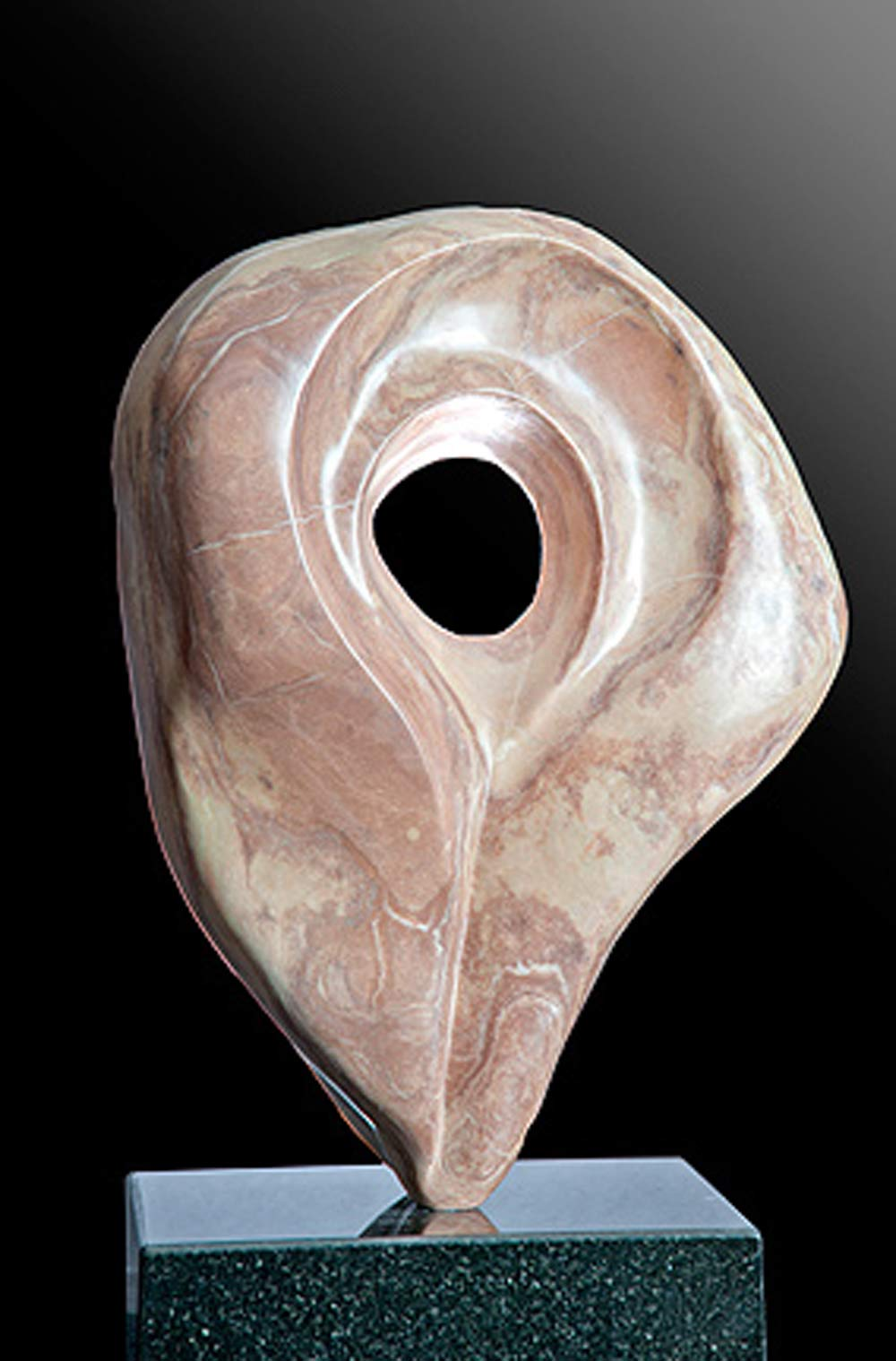 Affair Of The Heart Cream Alabaster Sculpture By Dorit