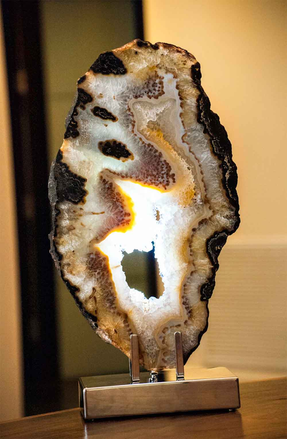 Alignment brazilian agate stainless steel lights