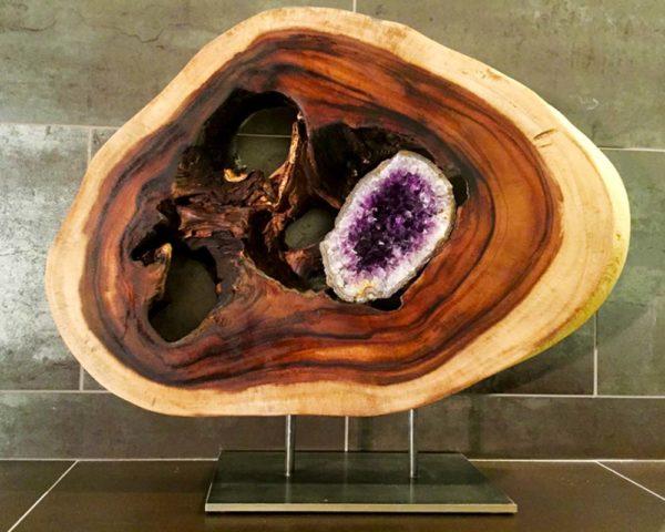 Third Eye Wood Sculpture Dorit Schwartz