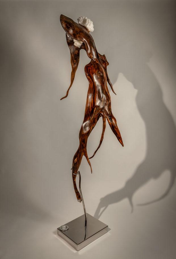 Devant   Indonesian Rosewood & Aragonite Sculpture   Dorit Schwartz Sculptor