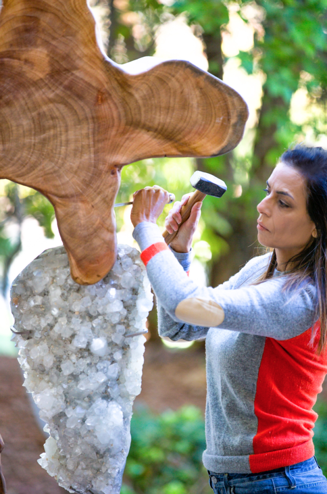 Dorit hard at work | Dorit Schwartz Sculptor - Meet the Artist