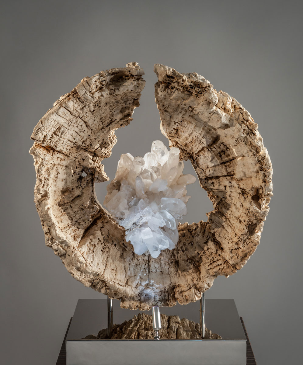 Matrix Crystal Wood Sculpture by Dorit Schwartz