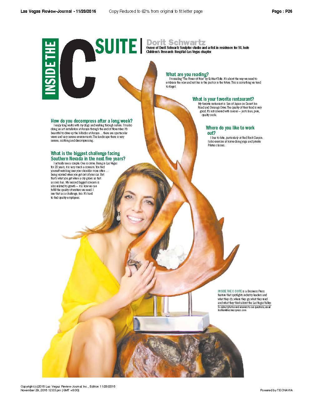 CSuite - Dorit Schwartz in the Las Vegas Review Journal