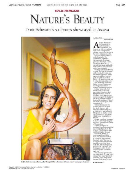 Dorit Schwartz in the Las Vegas Review Journal
