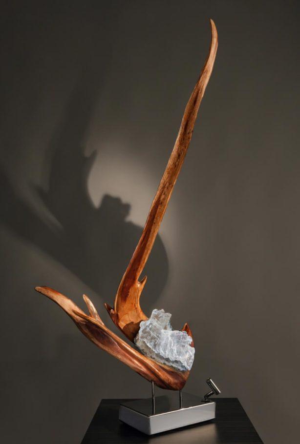 Grace Crystal Wood Sculpture Dorit Schwartz