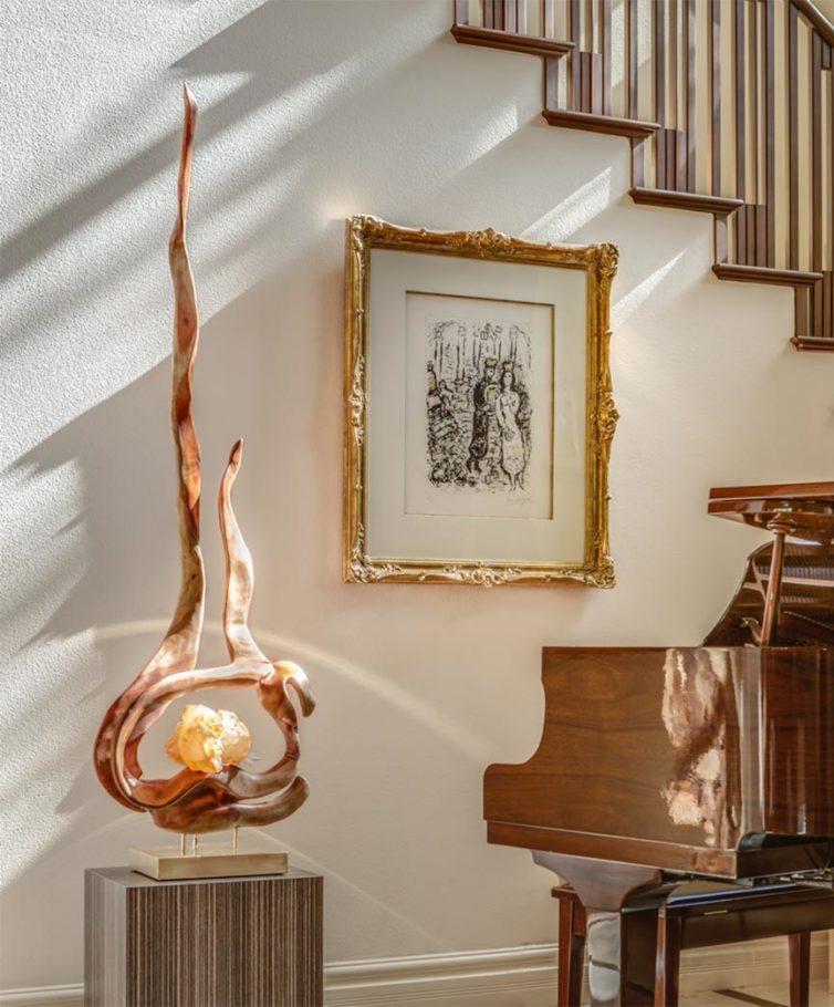 Spiritual Lights Crystal Wood Sculpture Dorit Schwartz