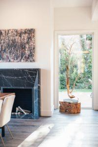 Dorit Schwartz artwork in Los Angeles premier home