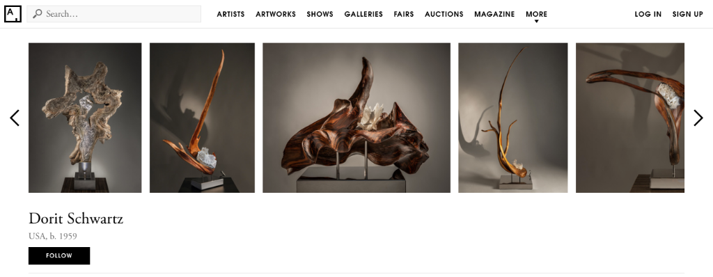 Strip of sculptures by artist