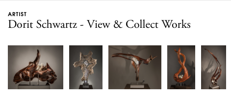 A strip of sculptures by artist Dorit Schwartz