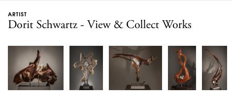 A strip of sculptures by artist Dorit Schwartz