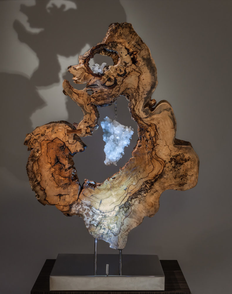 Divine Creation, Crystal Wood Sculpture by Dorit Schwartz
