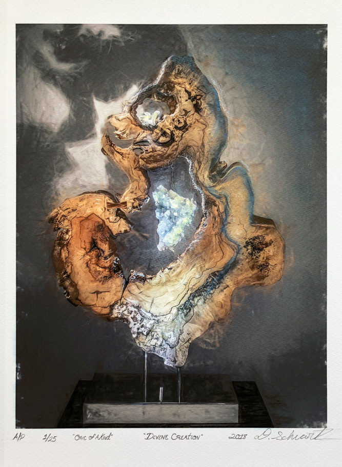 Divine Creation by Sculptor Dorit Schwartz MIXED MEDIA on PAPER PRINT One of A Kind LIMITED Collection