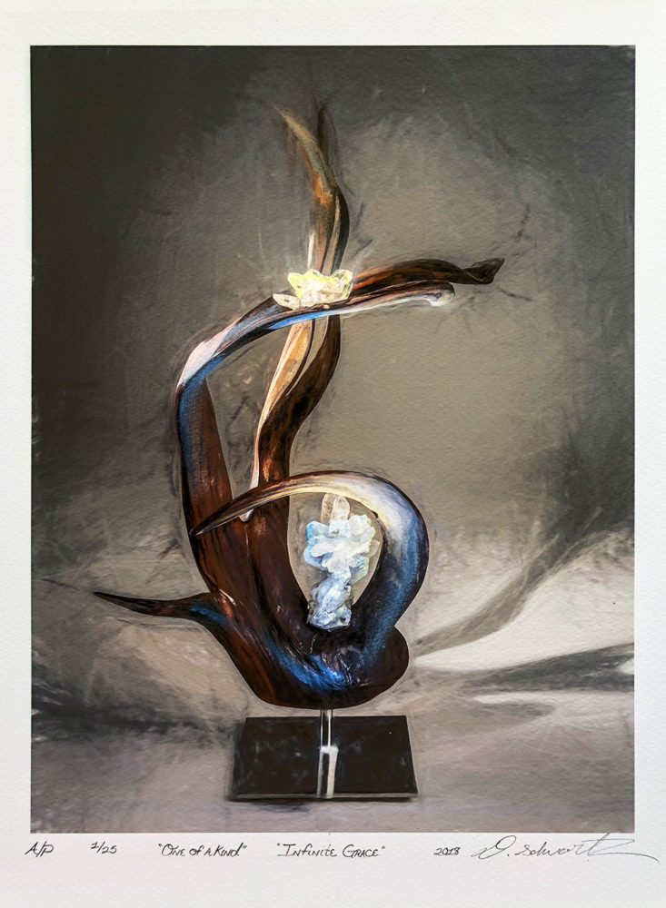 Infinite Grace by Sculptor Dorit Schwartz MIXED MEDIA on PAPER PRINT One of A Kind LIMITED Collection