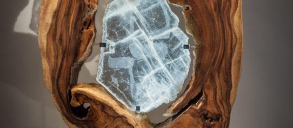 Sharing the Flame Crystal-Wood-Sculpture Dorit Schwartz blog