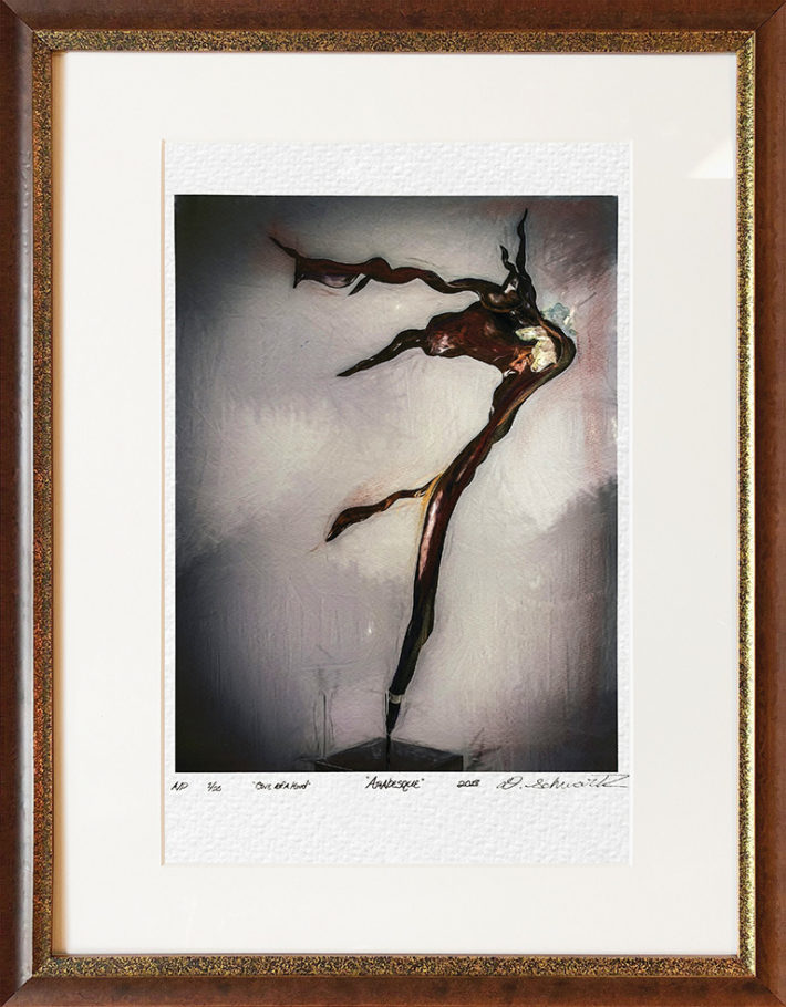 Arabesque One of A Kind Collection Hand Enhanced Lithographs by Fine Artist Dorit Schwartz Numbered Limited Edition Japanese Series