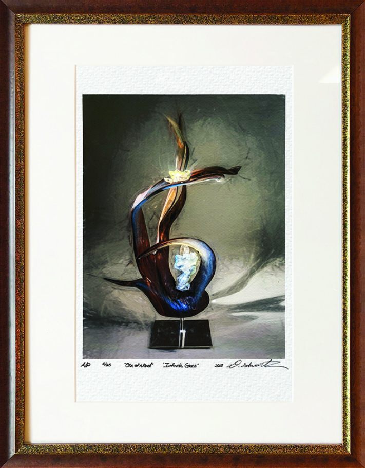 Infinite Grace One of A Kind Collection Hand Enhanced Lithographs by Fine Artist Dorit Schwartz Numbered Limited Edition Japanese Series