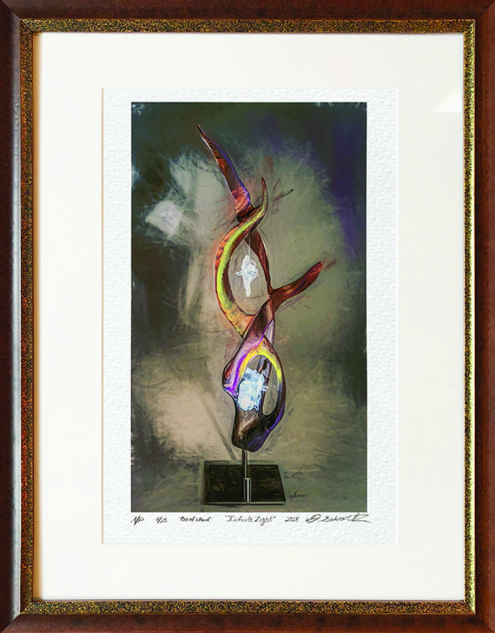 Infinite Light One of A Kind Collection Hand Enhanced Lithographs by Fine Artist Dorit Schwartz Numbered Limited Edition Japanese Series