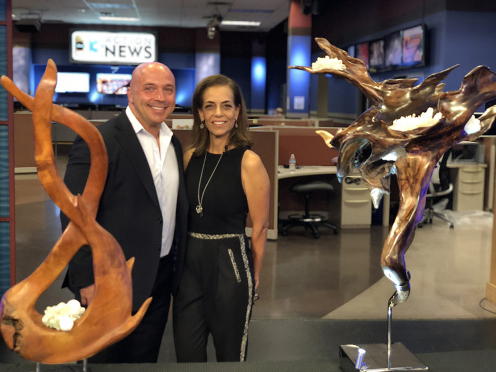 Sculptor Dorit Shwartz interviewed by Leslie Marin with ABC Channel 13 news from KTNV