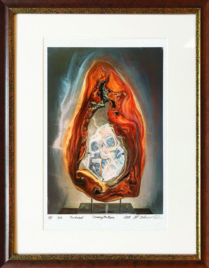 Sharing The Flame One of A Kind Collection Hand Enhanced Lithographs by Fine Artist Dorit Schwartz Numbered Limited Edition Japanese Series