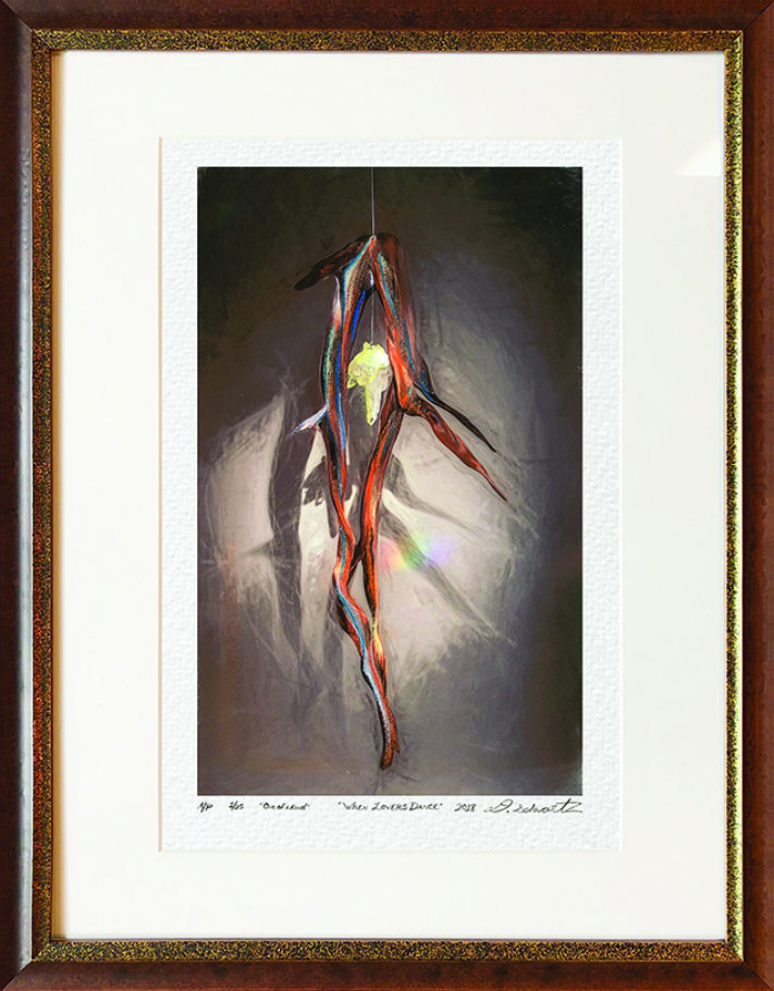 When Lovers Dance One of A Kind Collection Hand Enhanced Lithographs by Fine Artist Dorit Schwartz Numbered Limited Edition Japanese Series