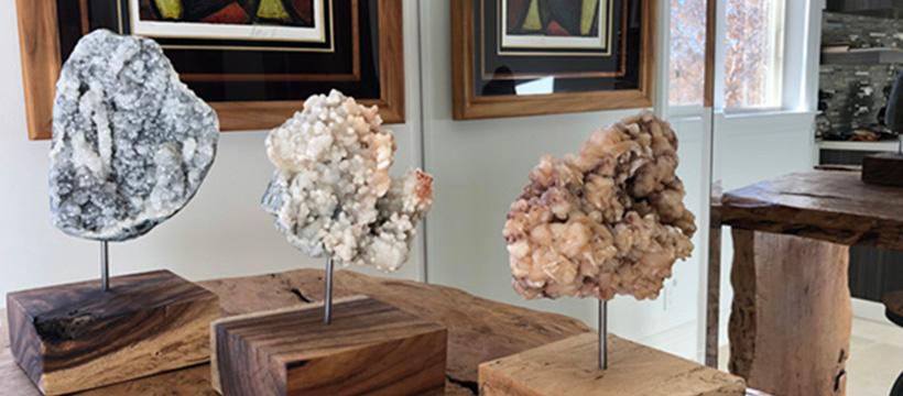 3 crystal clusters sculptor Dorit Schwartz blog
