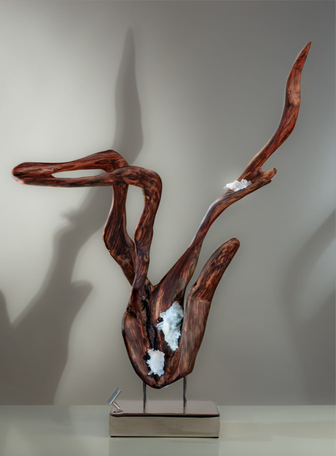 Hand of Time by sculptor Dorit Schwartz (44x34x23 inches)