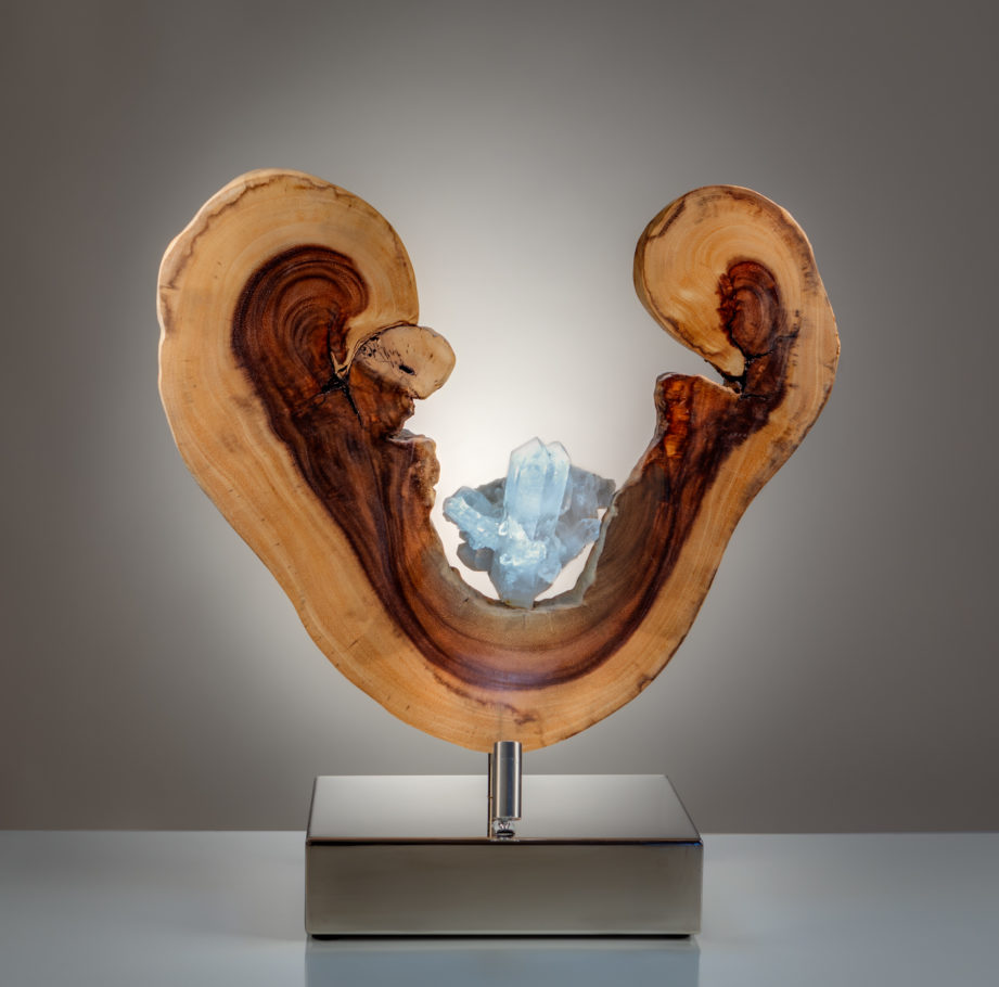 Open Heart by sculptor Dorit Schwartz (19x18x8 inches)