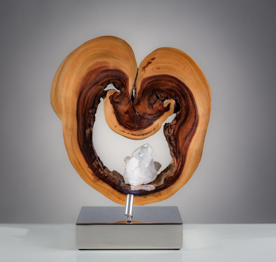 Round Heart by sculptor Dorit Schwartz (20x12x8 inches)