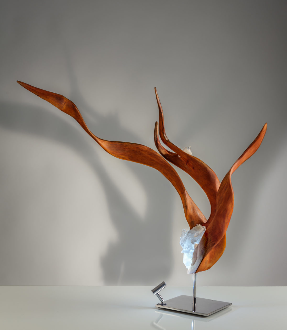 Serene Ascent by sculptor Dorit Schwartz (29x30x16 inches)