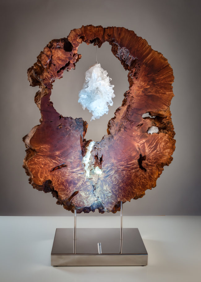 Lake of Luminance by sculptor Dorit Schwartz (48.5x34x13 in)