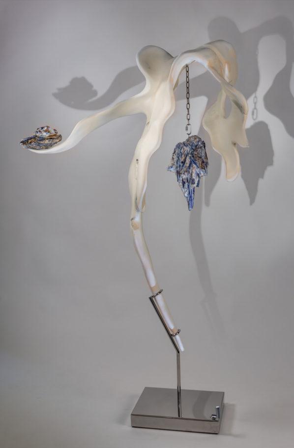 Poise II by sculptor Dorit Schwartz (69x42x16 inches)