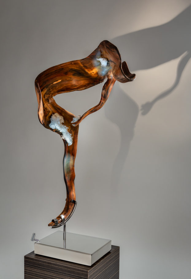 Sheltered Love by sculptor Dorit Schwartz (52x28x16 inches)