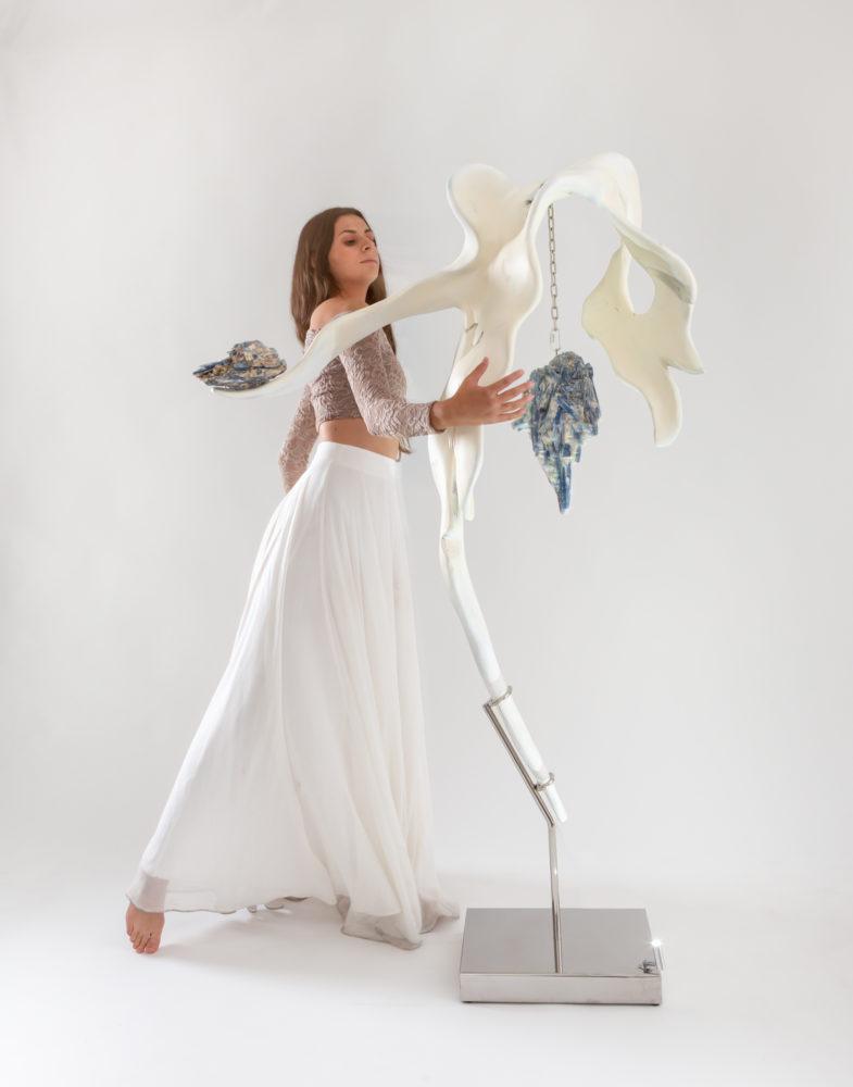 Poise II with Dancer by sculptor Dorit Schwartz