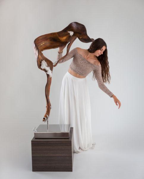 Sheltered Love with Dancer by sculptor Dorit Schwartz
