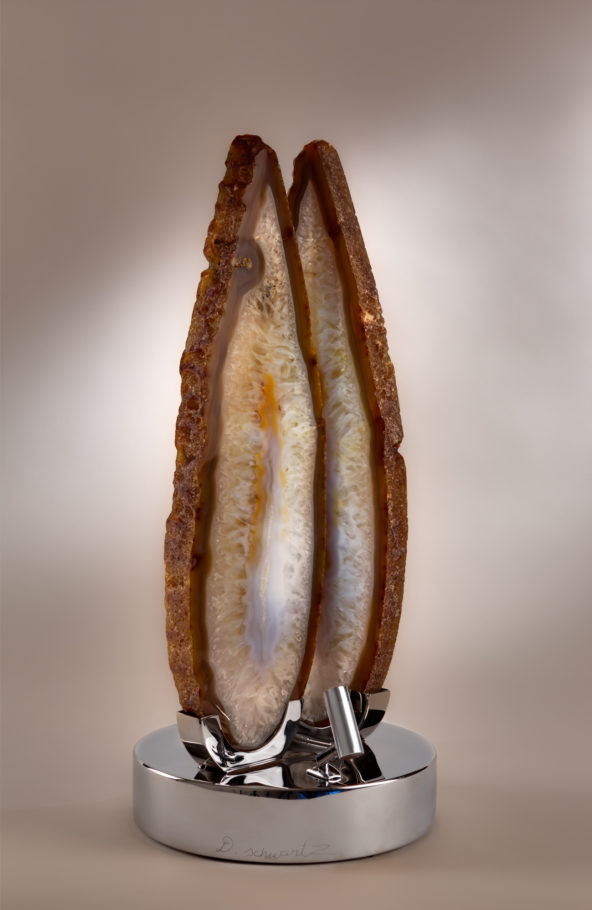 Spirit Flames 2x9 in by sculptor Dorit Schwartz